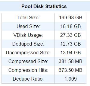 QuadStor stats